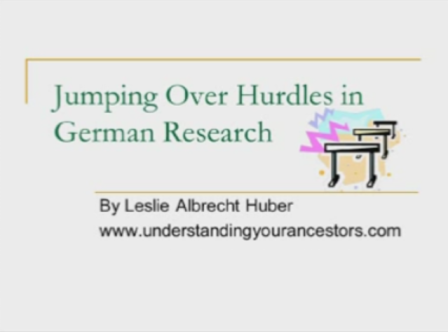 Jumping Over Hurdles in German Research